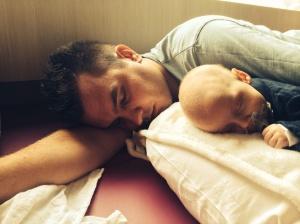 slapen met papa